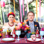Dia de los Muertos Wedding Inspiration - Couple