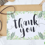 Wedding Checklist - Thank You Cards