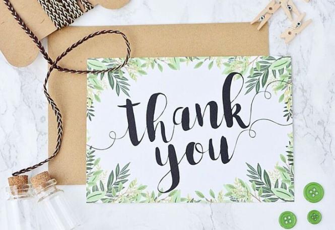 Wedding Checklist - Thank You Cards