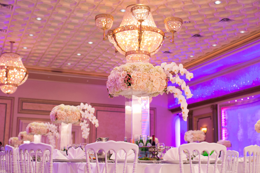 Elevated Flower Bouquet - Wedding Table Centerpiece