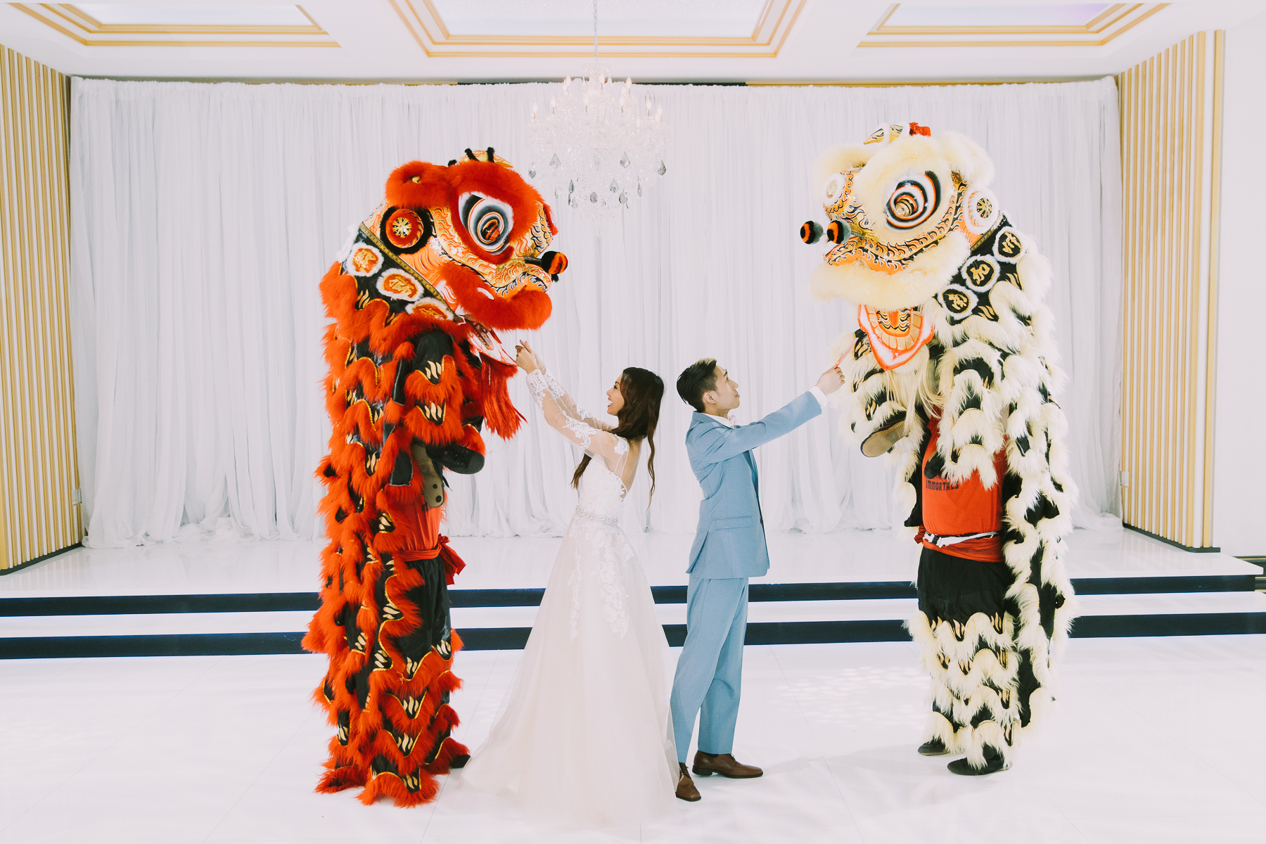 Chinese Lion Dance At Imperial Event Venue