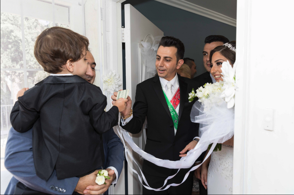 armenian wedding tradition - blocking the door