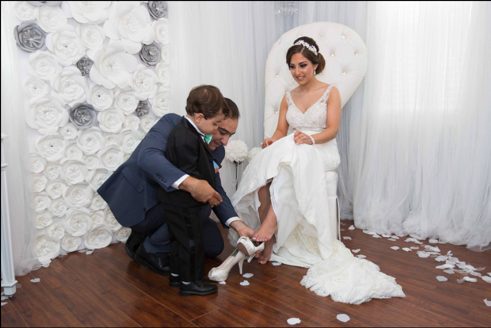 Armenian weddings - stealing the bride's shoe