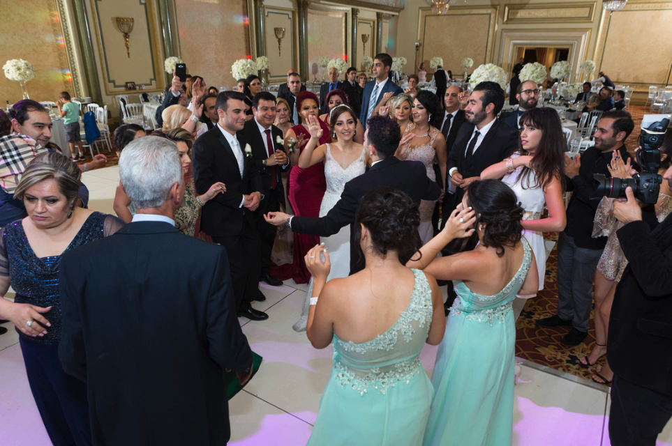 dancing and celebrating at Armenian wedding  at Imperial Event Venue - armenian banquet hall