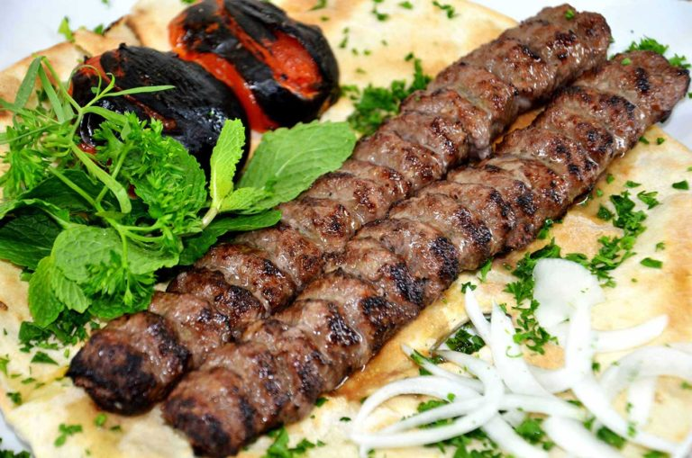 beef kabob at persian weddings