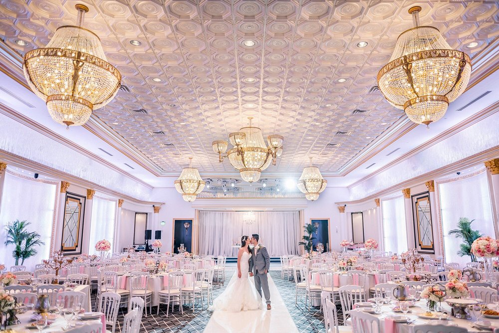 Indoor Photography - Wedding Couple Inside a Stunning Ballroom