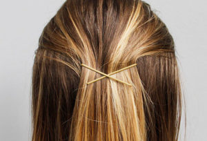 Wedding Day Emergency Kit - Back Of Womans Head With Hair Pins