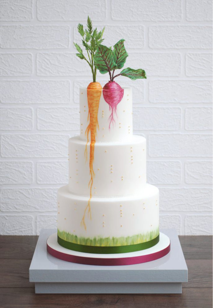 Hand Painted Cakes With Edible Paint - Cake with Beet and Carrot