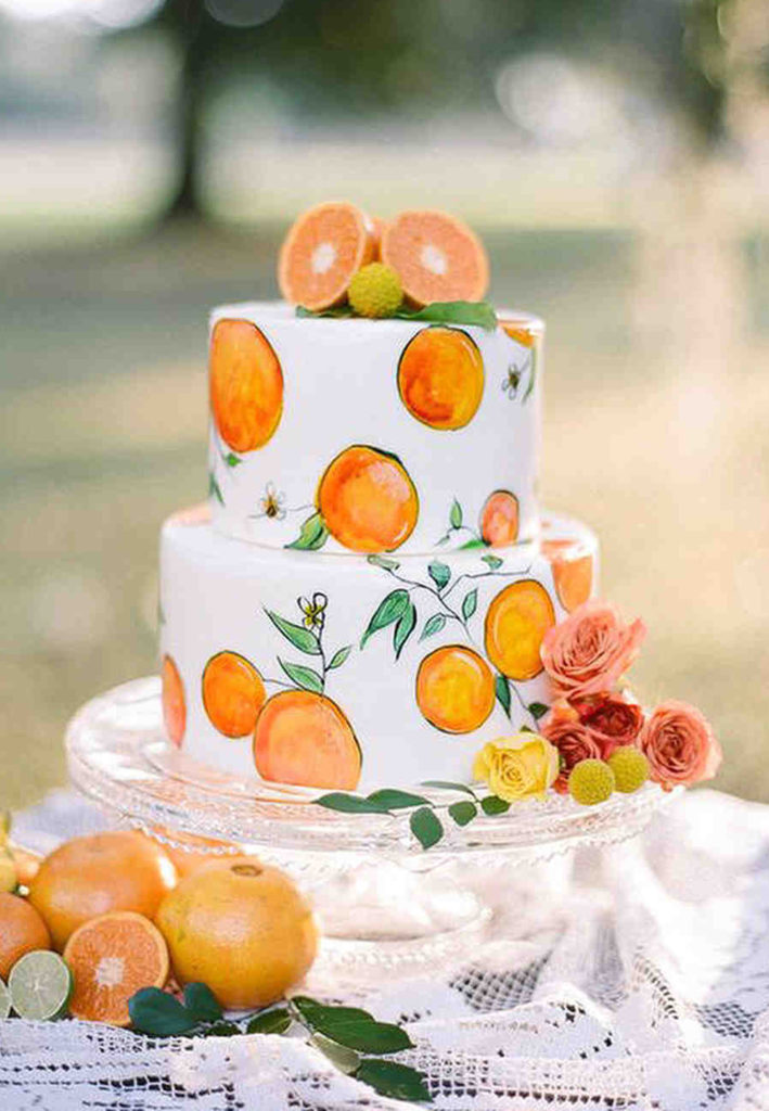 Hand Painted Cakes With Edible Paint - Cake With Painted Oranges
