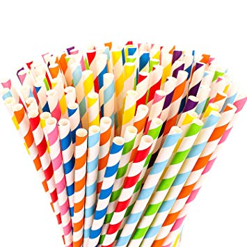 Wedding Day Emergency Kit - Multicolored Striped Straws