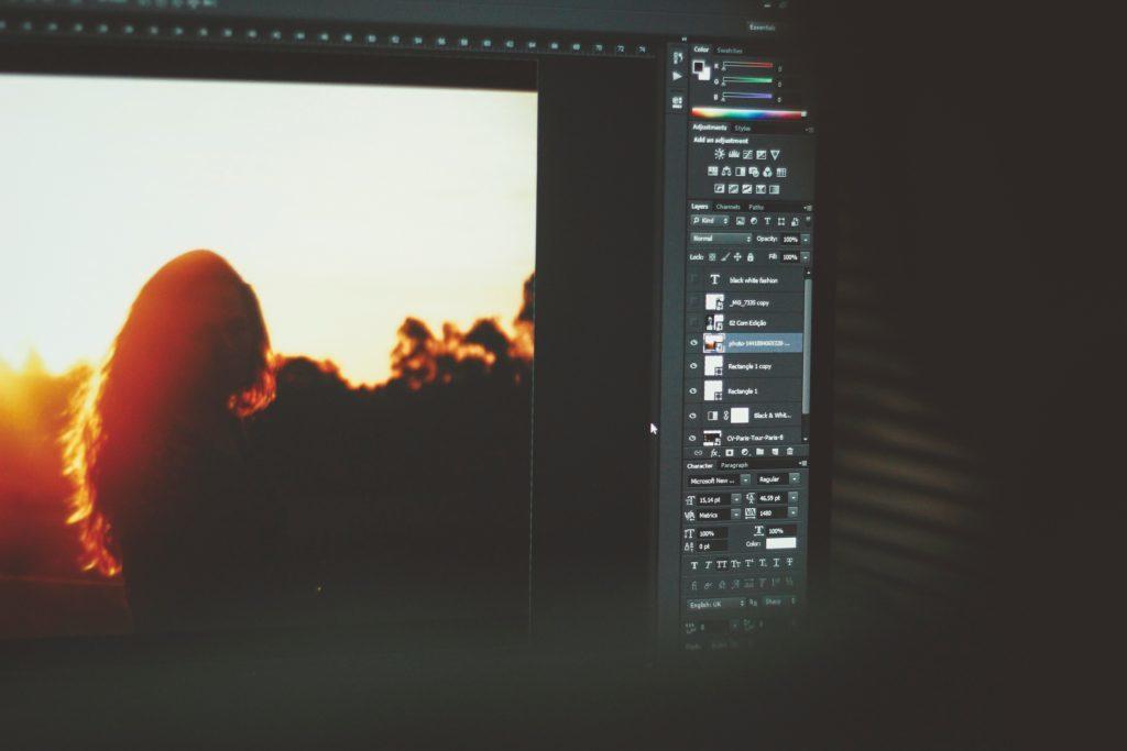 Wedding Photographer - Computer Screen Showing Photography Editing