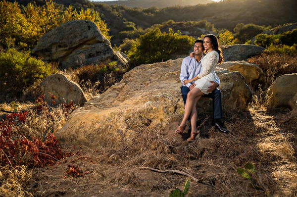 Engagement Photo Shoot - Couple At Laguna Beach Wilderness