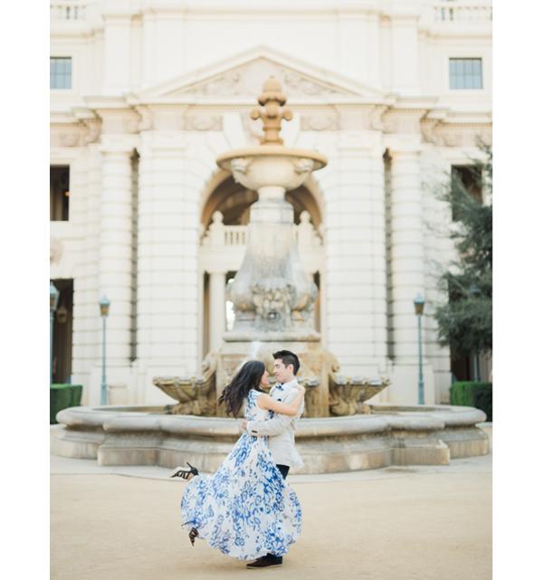 Engagement Photo Shoot - Couple At Pasadena City Hall