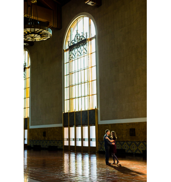 Engagement Photo Shoot - Couple At Union Station Los Angeles