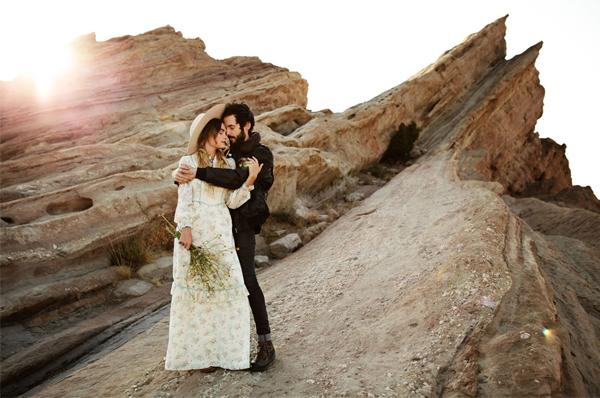 Engagement Photo Shoot - Couple At Vasquez Rocks