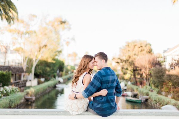Engagement Photo Shoot - Couple At Venice Canals