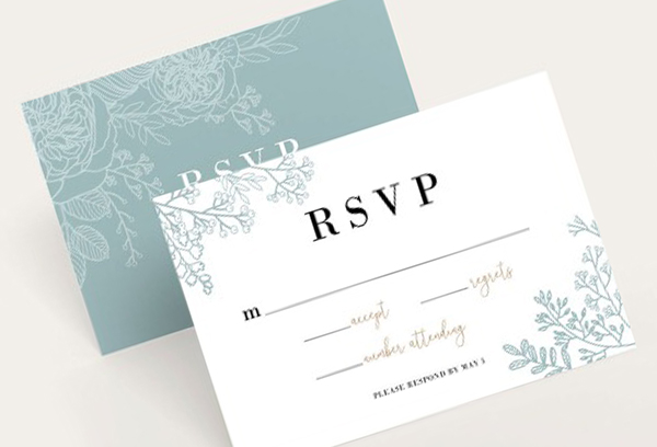 Advice For The Bride And Groom - Number RSVP Cards