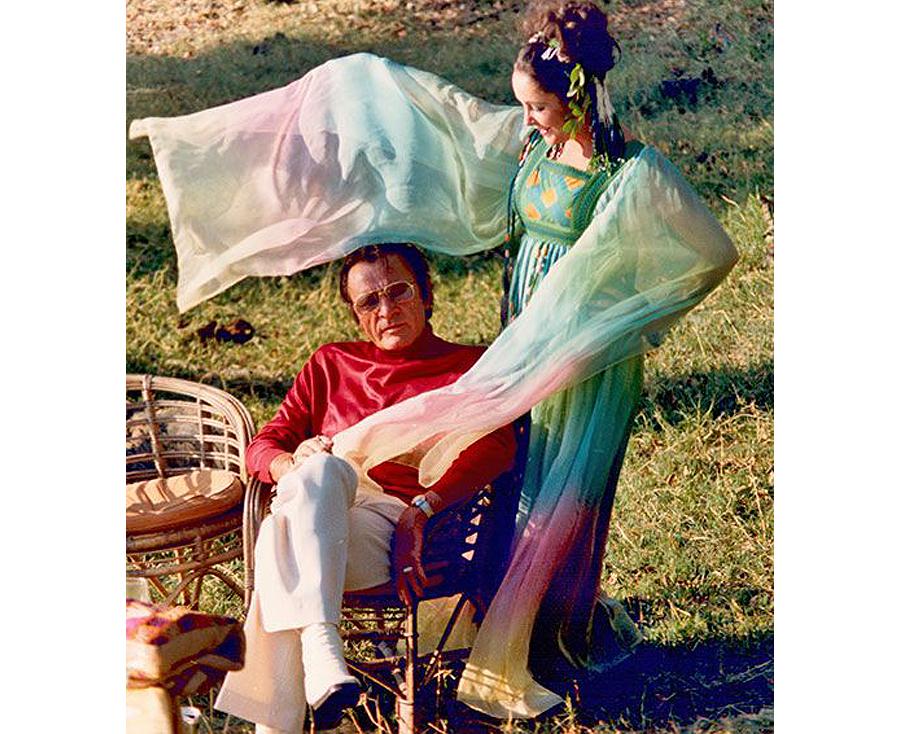 Non White Wedding Dresses - Elizabeth Taylor Rainbow Wedding Dress