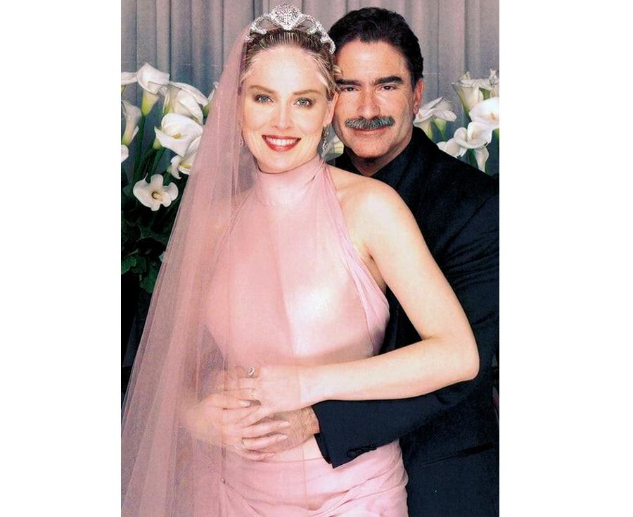 Non White Wedding Dresses - Sharon Stone Pink Wedding Dress