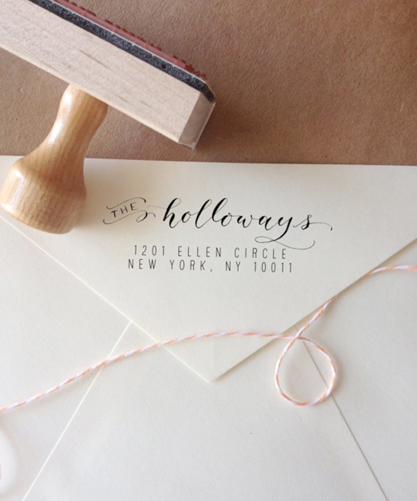 Wedding Hacks - Envelope With Address Stamp