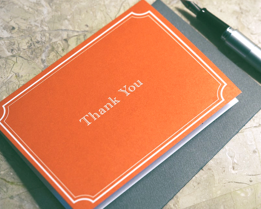 Wedding Hacks - Red Thank You Card With Pen