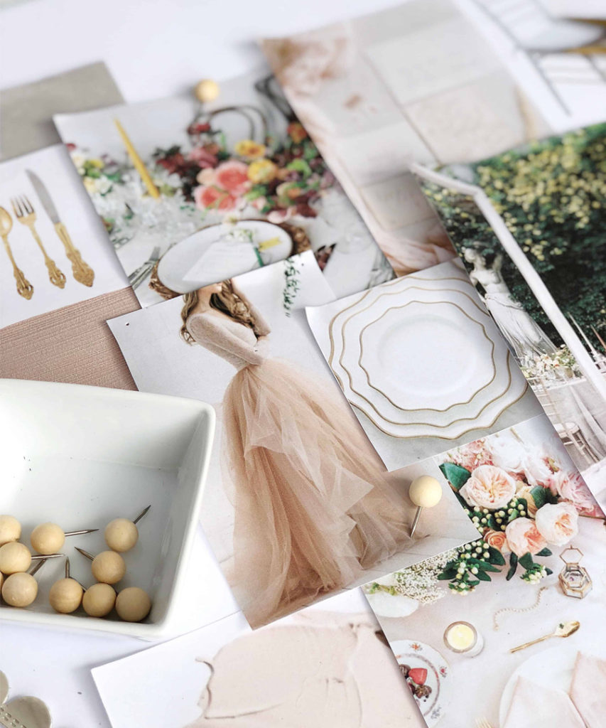 Wedding Hacks - Peach Wedding Mood Board