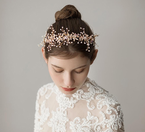 Wedding Tiaras - Bride Wearing Floral Tiara