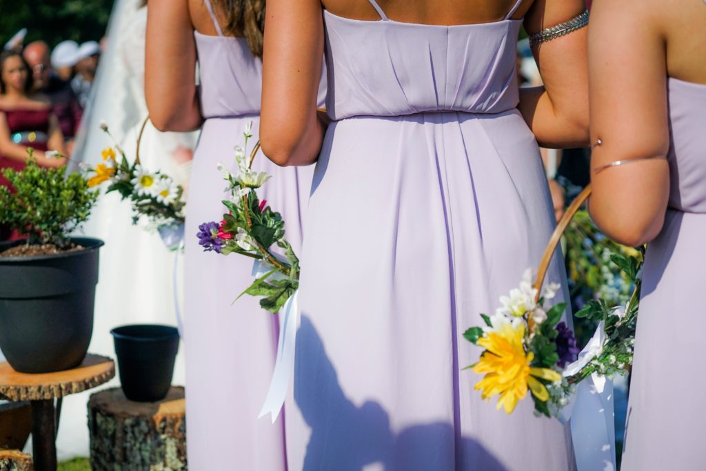 Bridesmaid in line